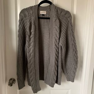 Universal Thread Grey Chunky Cardigan S